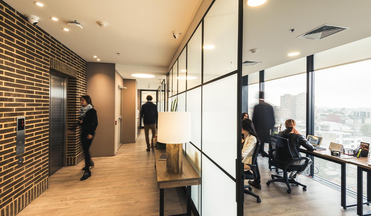 Crecimiento de las oficinas compartidas en Bogotá